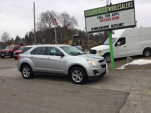 2010 Chevrolet Equinox for sale at Giguere Auto Wholesalers in Tilton NH