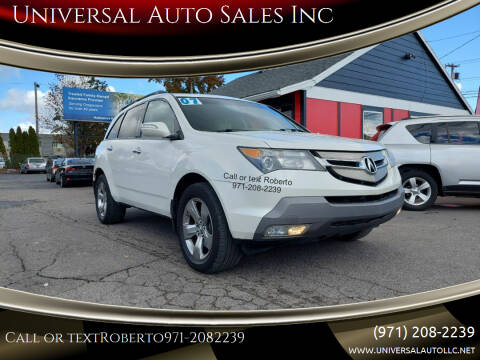 2007 Acura MDX for sale at Universal Auto Sales Inc in Salem OR