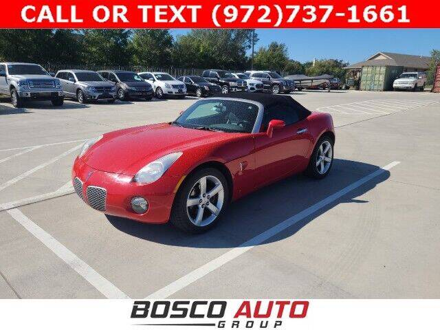 2008 Pontiac Solstice for sale at Bosco Auto Group in Flower Mound TX