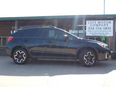 2016 Subaru Crosstrek for sale at CITY MOTOR COMPANY in Waco TX