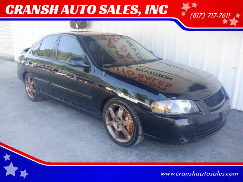 2005 Nissan Sentra for sale at CRANSH AUTO SALES, INC in Arlington TX