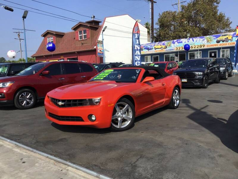 2011 Chevrolet Camaro for sale at LA PLAYITA AUTO SALES INC - 3271 E. Firestone Blvd Lot in South Gate CA