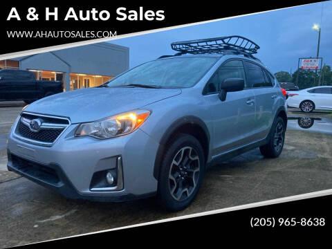 2016 Subaru Crosstrek for sale at A & H Auto Sales in Clanton AL
