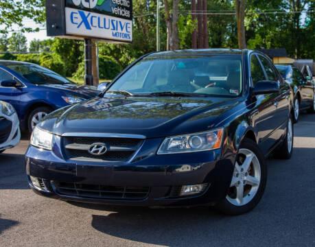 2006 Hyundai Sonata for sale at EXCLUSIVE MOTORS in Virginia Beach VA
