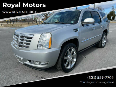 2010 Cadillac Escalade for sale at Royal Motors in Hyattsville MD