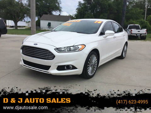 2016 Ford Fusion for sale at D & J AUTO SALES in Joplin MO