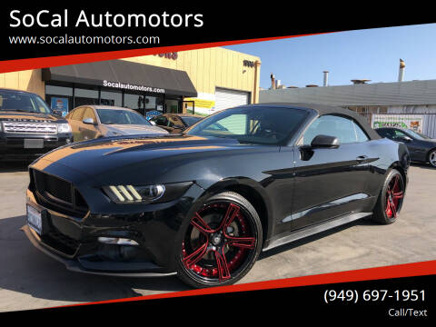 2016 Ford Mustang for sale at SoCal Automotors in Costa Mesa CA