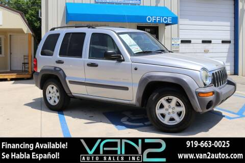 2003 Jeep Liberty for sale at Van 2 Auto Sales Inc in Siler City NC