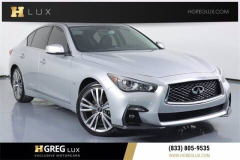 2018 Infiniti Q50 for sale at HGREG LUX EXCLUSIVE MOTORCARS in Pompano Beach FL