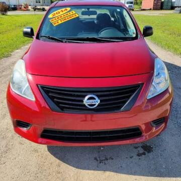 2014 Nissan Versa for sale at Auto Guarantee, LLC in Eunice LA