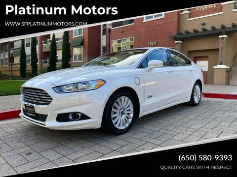 2016 Ford Fusion Energi for sale at Platinum Motors in San Bruno CA