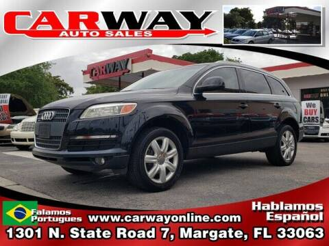 2008 Audi Q7 for sale at CARWAY Auto Sales in Margate FL