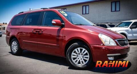 2014 Kia Sedona for sale at Rahimi Automotive Group in Yuma AZ
