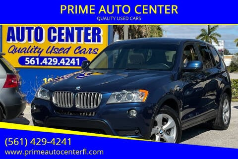 2012 BMW X3 for sale at PRIME AUTO CENTER in Palm Springs FL