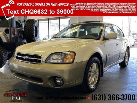 2002 Subaru Outback for sale at CERTIFIED HEADQUARTERS in St James NY