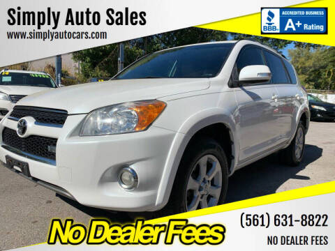 2012 Toyota RAV4 for sale at Simply Auto Sales in Palm Beach Gardens FL