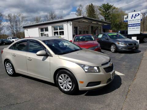 2011 Chevrolet Cruze for sale at Highlands Auto Gallery in Braintree MA