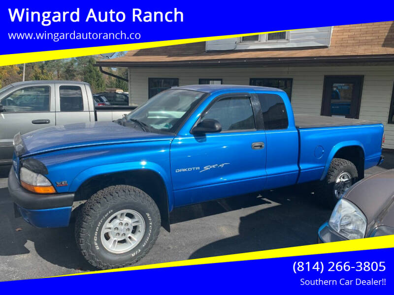 1999 Dodge Dakota for sale at Wingard Auto Ranch in Elton PA
