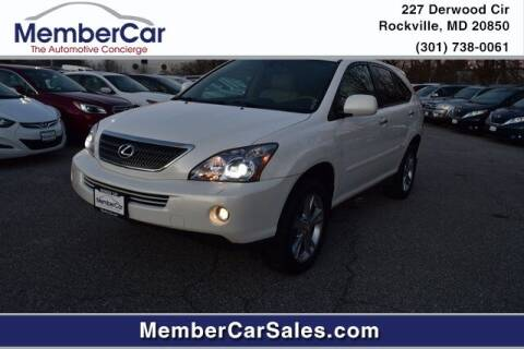 2008 Lexus RX 400h for sale at MemberCar in Rockville MD
