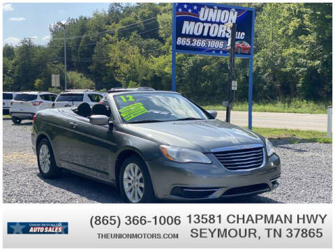 2012 Chrysler 200 Convertible for sale at Union Motors in Seymour TN
