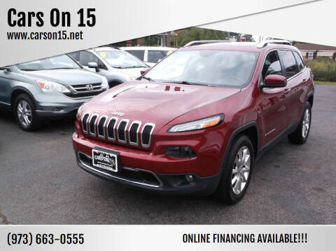 2015 Jeep Cherokee for sale at Cars On 15 in Lake Hopatcong NJ