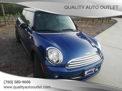 2012 MINI Cooper Hardtop for sale at Quality Auto Outlet in Vista CA