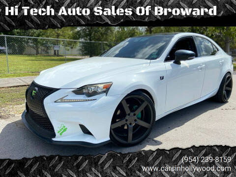 2014 Lexus IS 250 for sale at Hi Tech Auto Sales Of Broward in Hollywood FL