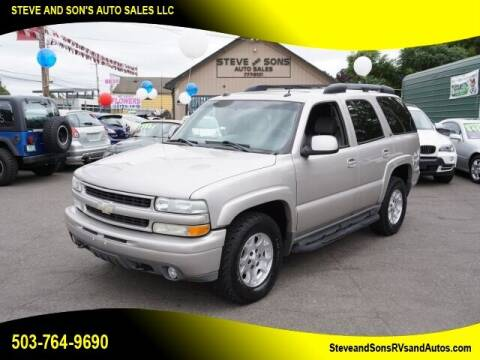 2004 Chevrolet Tahoe for sale at Steve & Sons Auto Sales in Happy Valley OR
