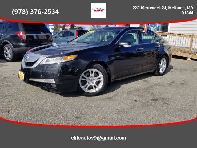 2010 Acura TL for sale at ELITE AUTO SALES, INC in Methuen MA