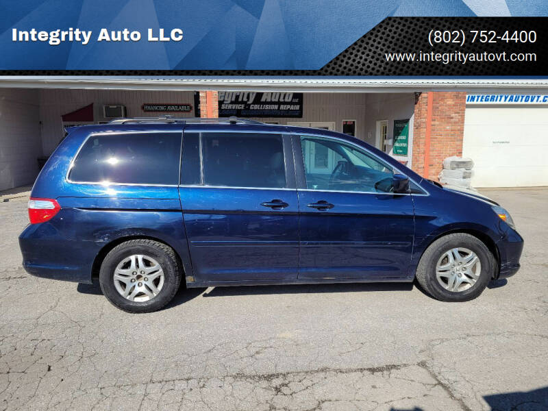 2007 Honda Odyssey for sale at Integrity Auto LLC - Integrity Auto 2.0 in St. Albans VT