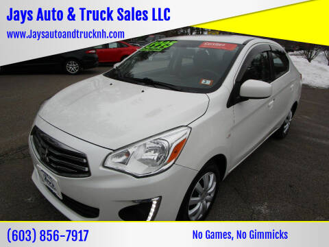 2017 Mitsubishi Mirage G4 for sale at Jays Auto & Truck Sales LLC in Loudon NH