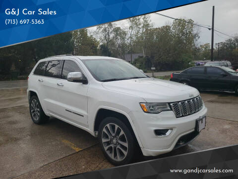 2018 Jeep Grand Cherokee for sale at G&J Car Sales in Houston TX
