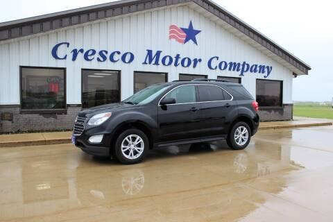 2017 Chevrolet Equinox for sale at Cresco Motor Company in Cresco IA