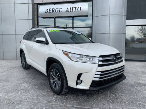 2017 Toyota Highlander for sale at Berge Auto in Orem UT
