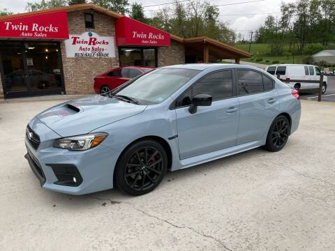 2019 Subaru WRX for sale at Twin Rocks Auto Sales LLC in Uniontown PA
