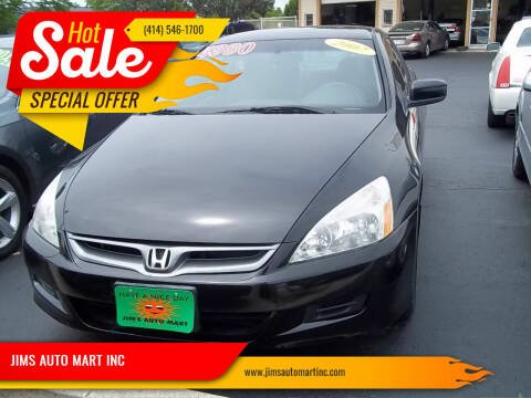 2007 Honda Accord for sale at JIMS AUTO MART INC in Milwaukee WI