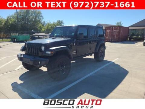 2018 Jeep Wrangler Unlimited for sale at Bosco Auto Group in Flower Mound TX