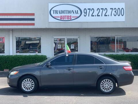 2008 Toyota Camry for sale at Traditional Autos in Dallas TX