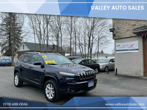 2015 Jeep Cherokee for sale at VALLEY AUTO SALES in Methuen MA