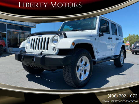 2015 Jeep Wrangler Unlimited for sale at Liberty Motors in Billings MT