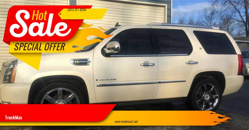 2009 Cadillac Escalade Hybrid for sale at TruckMax in N. Laurel MD