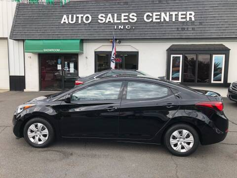 2016 Hyundai Elantra for sale at Auto Sales Center Inc in Holyoke MA