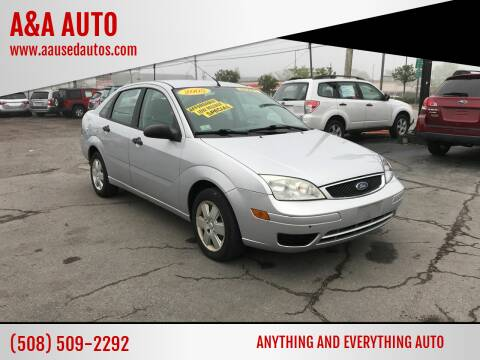 2007 Ford Focus for sale at A&A AUTO in Fairhaven MA