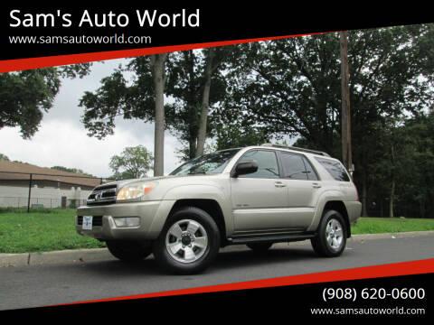 2005 Toyota 4Runner for sale at Sam's Auto World in Roselle NJ