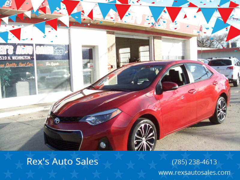 2016 Toyota Corolla for sale at Rex's Auto Sales in Junction City KS