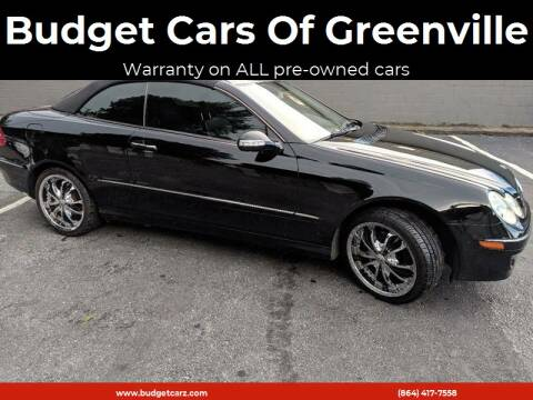 2006 Mercedes-Benz CLK for sale at Budget Cars Of Greenville in Greenville SC