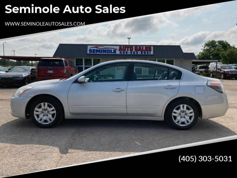 2012 Nissan Altima for sale at Seminole Auto Sales in Seminole OK