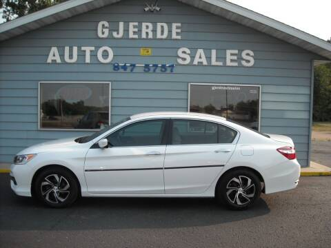 2016 Honda Accord for sale at GJERDE AUTO SALES in Detroit Lakes MN