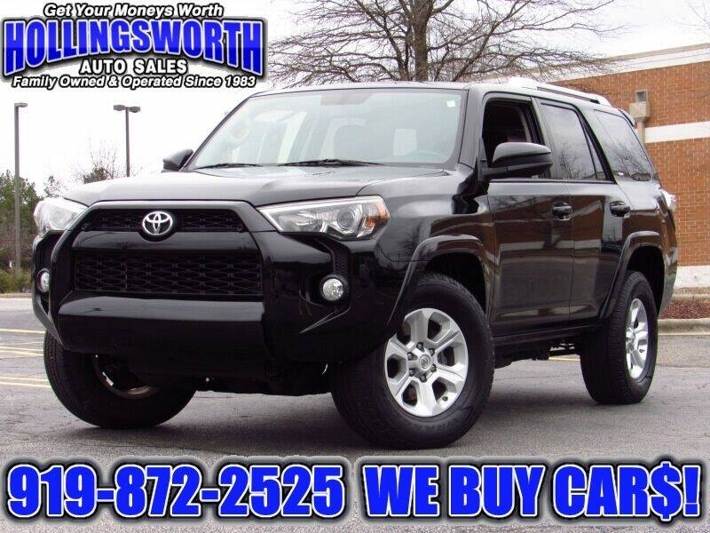 2014 Toyota 4Runner for sale at Hollingsworth Auto Sales in Raleigh NC
