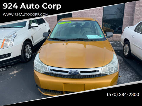2009 Ford Focus for sale at 924 Auto Corp in Sheppton PA